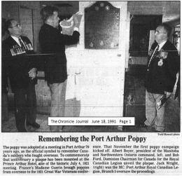 plaque CJ june 18, 1991 p.1
