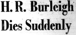 Harold Burleigh Story