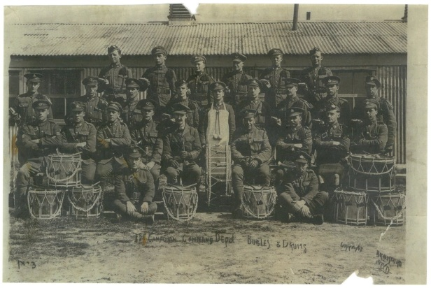 photo of 141st Battalion Canadian Command Depot Bugles and Drums
