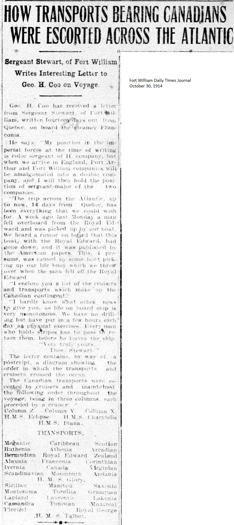 Soldiers Last Letter.Soldiers Letters October 1914 World War One Thunder Bay