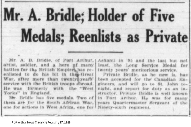 PANC February 27, 1918 - Bridle