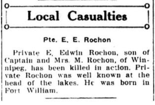 PANC February 9, 1918 - Rochon
