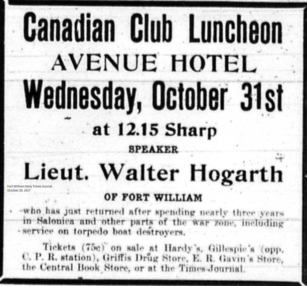 FWDTJ October 29, 1917 - Hogarth, Walter