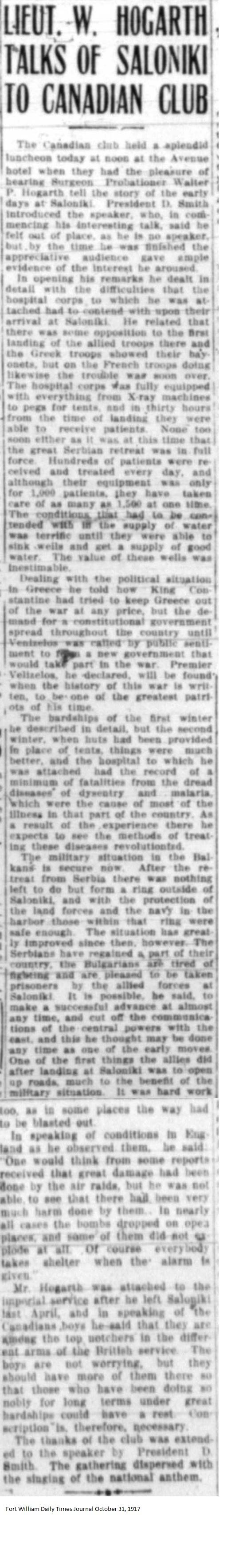 FWDTJ October 31, 1917 - Hogarth, Walter
