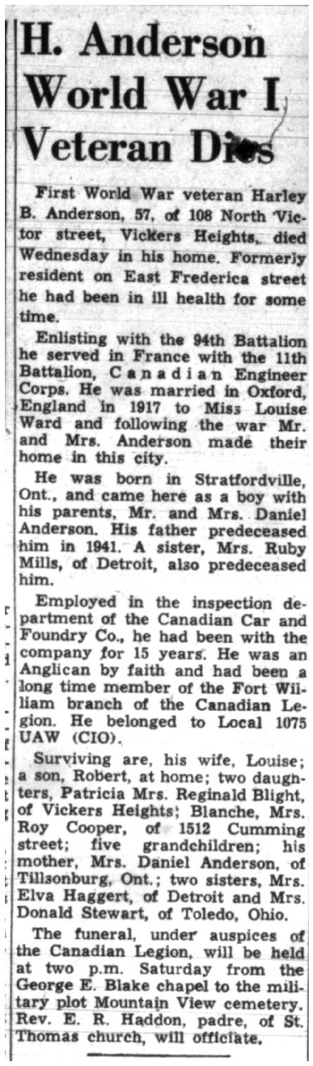 Anderson Obituary